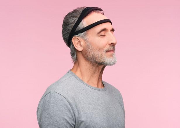 Photograph of a man wearing the dream headband