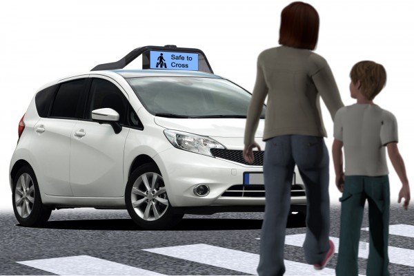 new self driving car tells pedestrians when it s safe to cross the street mit technology review. Black Bedroom Furniture Sets. Home Design Ideas