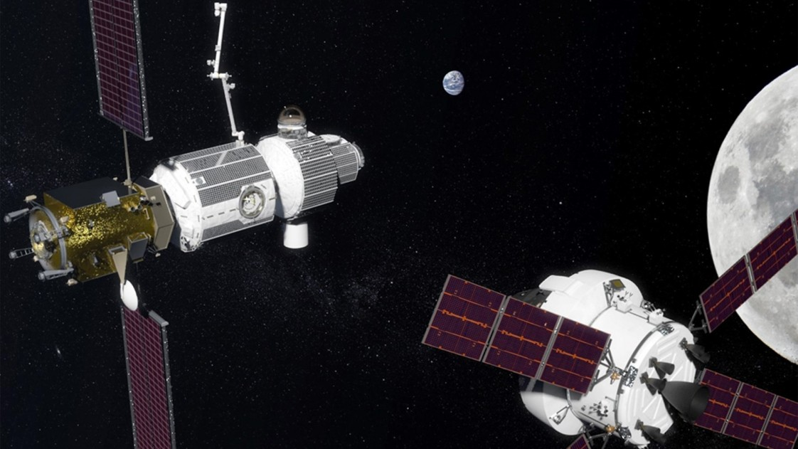 Rendering of the Lunar Gateway project