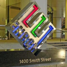 3-D Enron logo