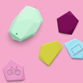group of Estimote beacons