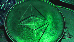 artwork of ethereum token