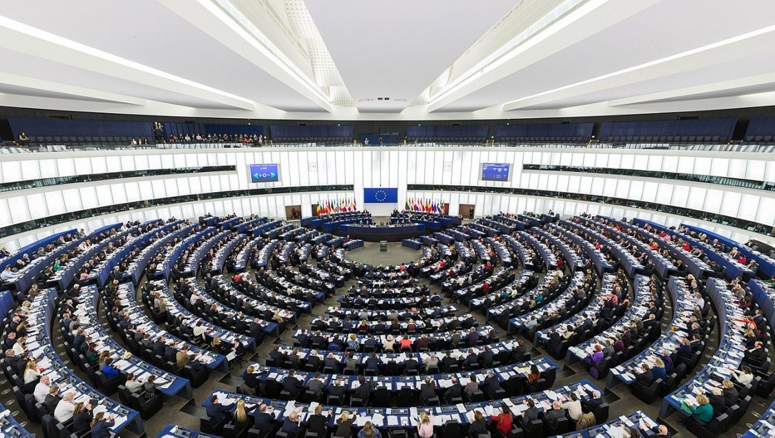 The European Parliament's debating chamber during a session in Strasbourg