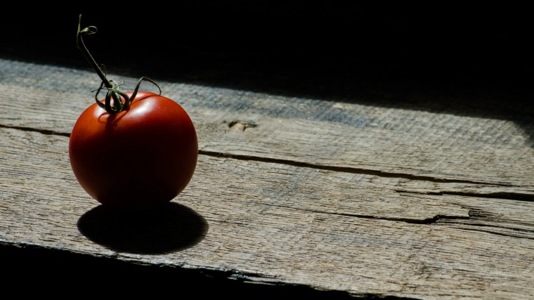 a tomate cast in shadow