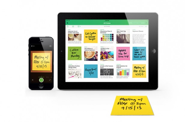 Evernote on various devices