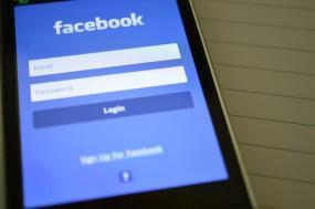 Facebook mobile login screen