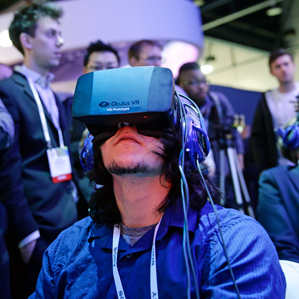 attendees try Oculus Rift