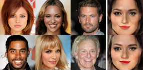 Fake celebrity faces generated using an AI algorithm
