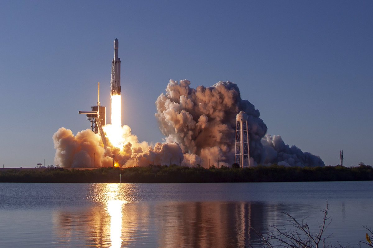 SpaceX has managed to land Falcon Heavy's three rocket boosters for the first time