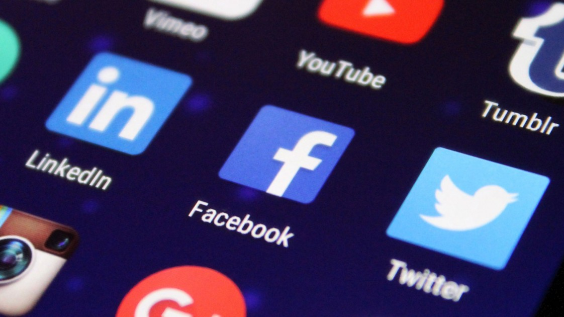 Facebook icon on smartphone