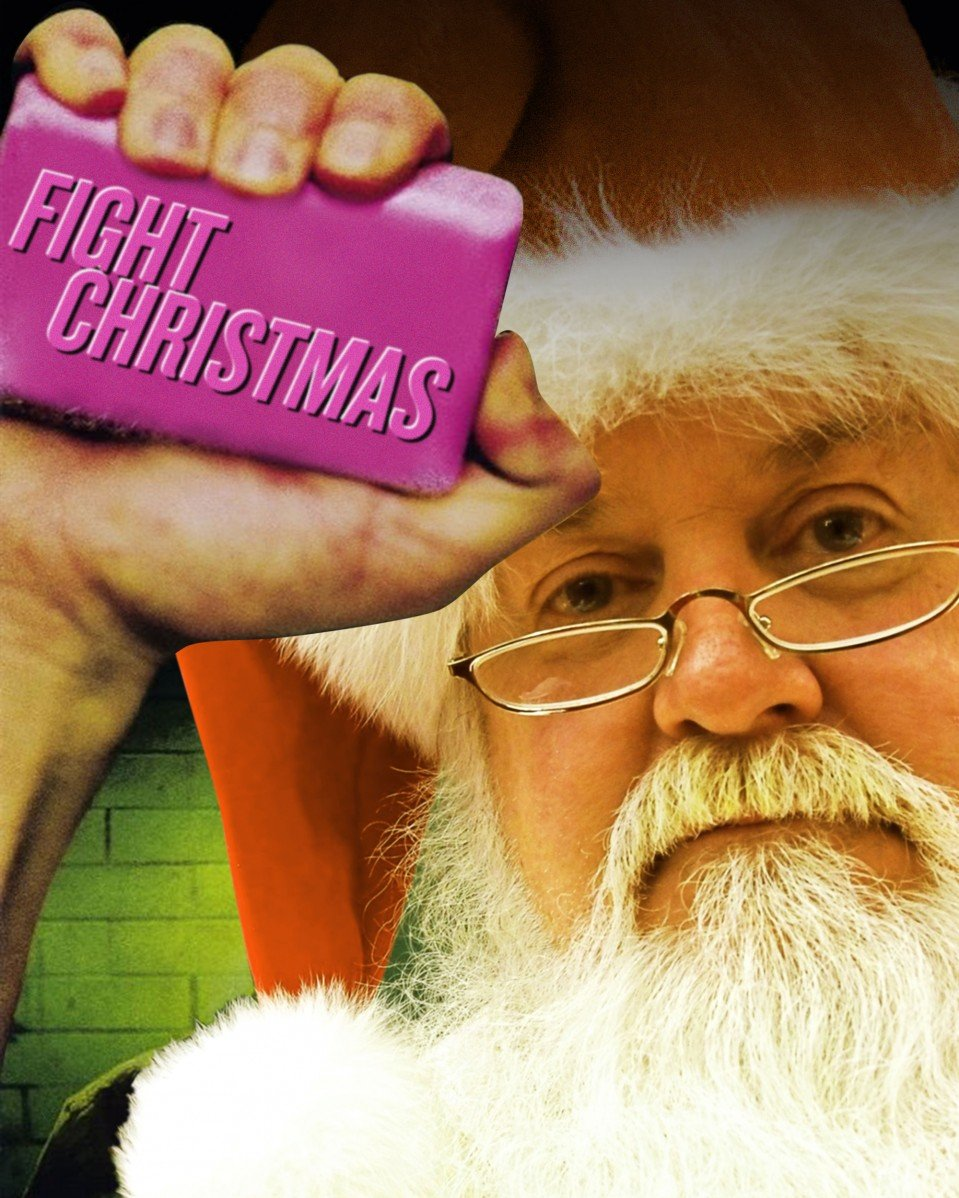 """A spoof if the """"It"""" movie poster reading """"It Christmas""""."""