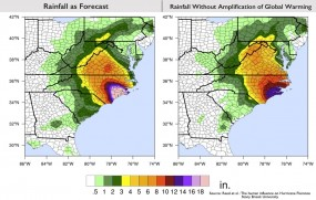 Projected rainfall as Florence approaches east coast