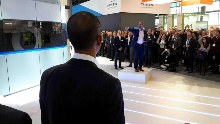 Reveal of GE's new metal 3D printer at formnext