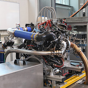 modified Volkswagen diesel engine