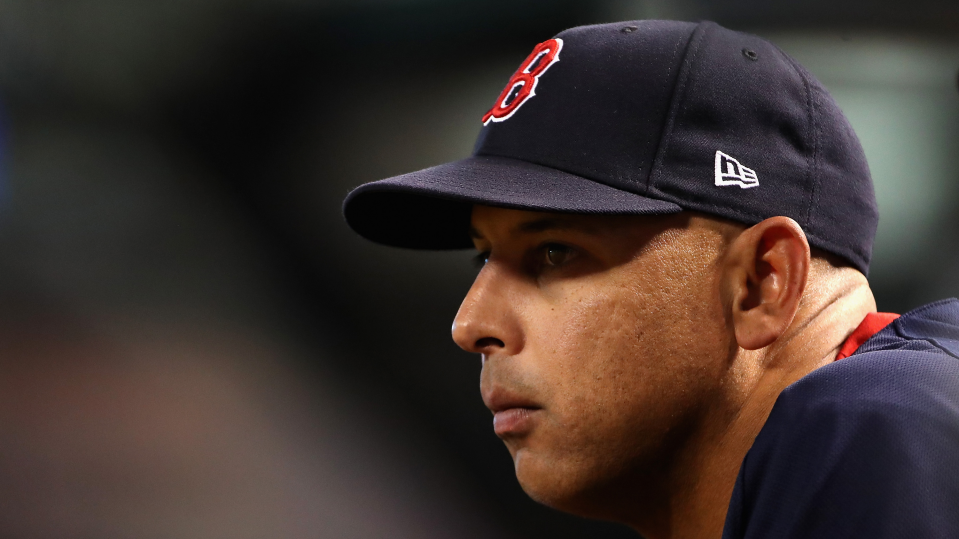 photograph of Alex Cora