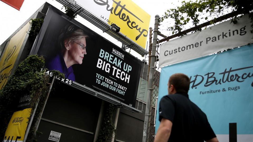 Elizabeth Warren, Big Tech