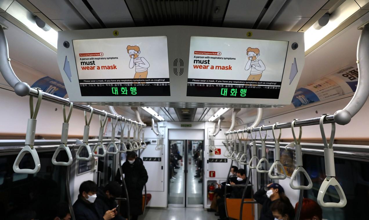 public transporation in South Korea during coronavirus