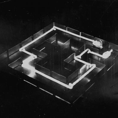 Photo of mouse's path Theseus maze