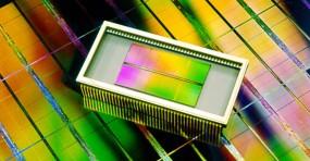 A DRAM chip.