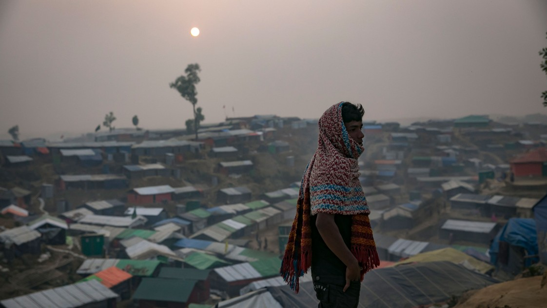 Image of Rohingya Muslims in refugee camps