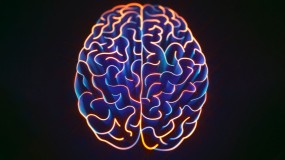 Glowing conceptual illustration of a brain