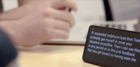 Google's Live Transcribe app in action