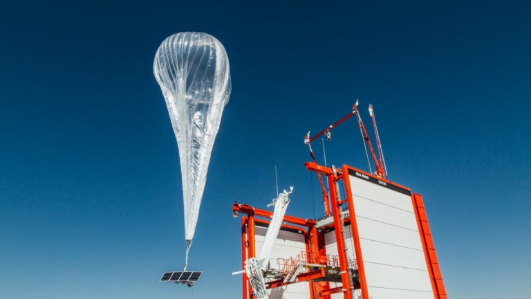 A Loon internet balloon launches