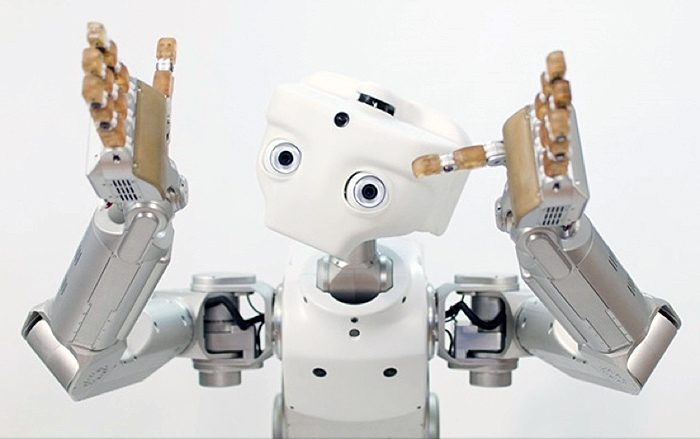 Google bot with arms up