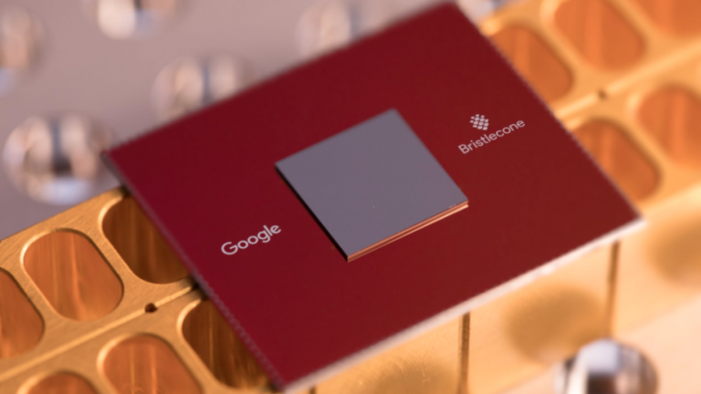 Google's Bristlecone quantum chip.