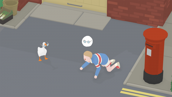 untitled goose game glasses steal humor comedy ludonarrative