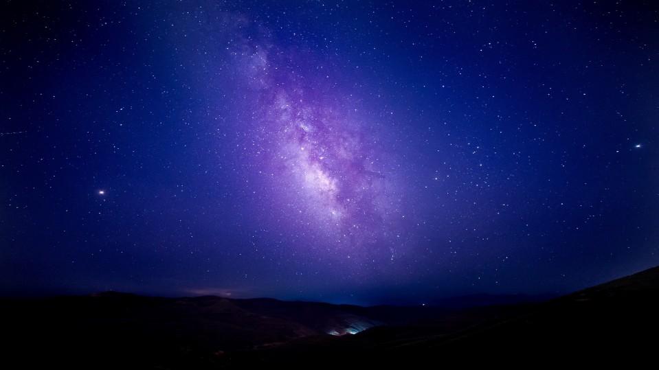 An image of the night sky over China.