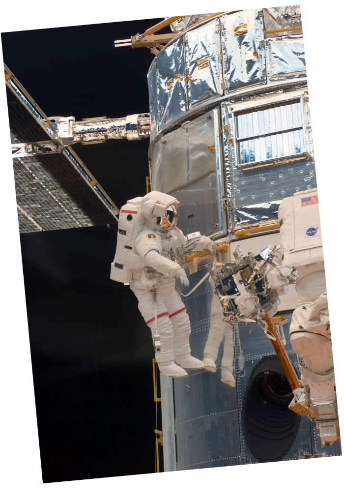 Photo of suited astronaut