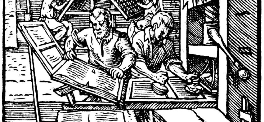 Gutenberg etching