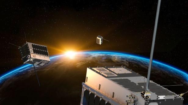 Rendering of pathfinder cluster in orbit