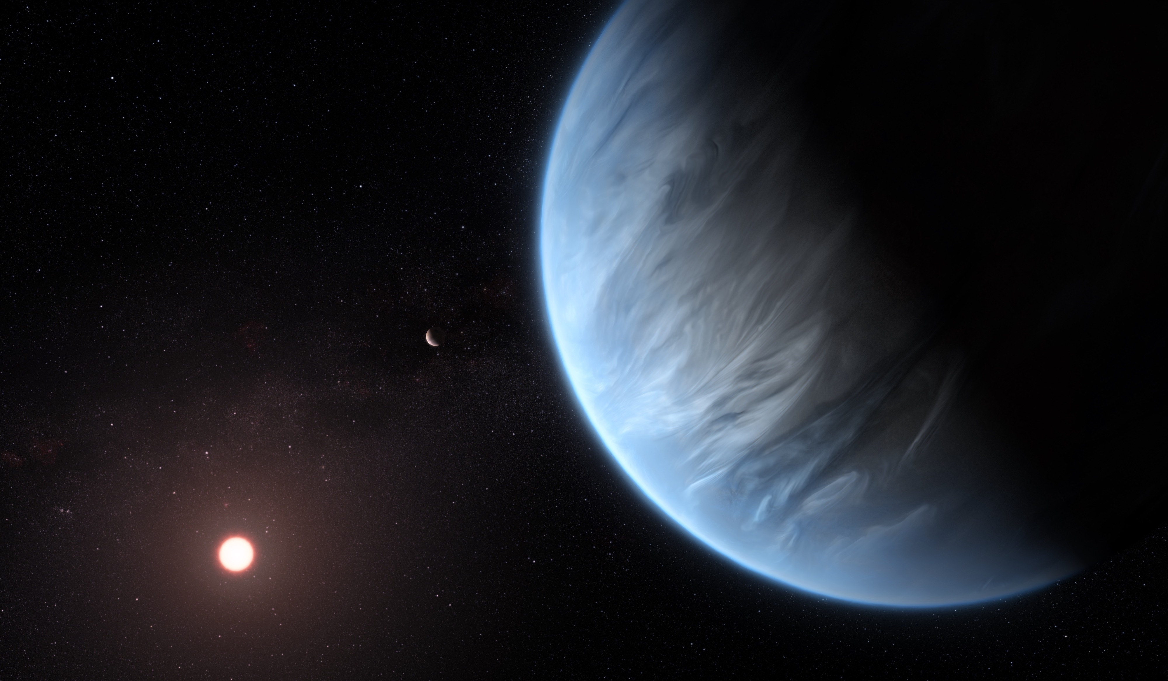 "Water vapor has been spotted on a ""habitable zone"" planet 110 light years away"