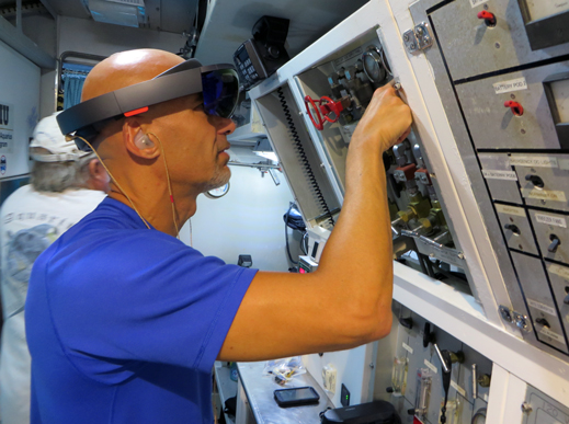 Hololens in space