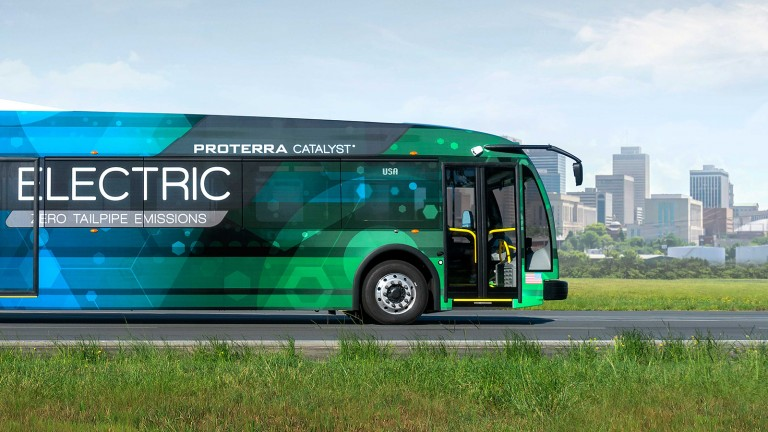 Proterra's electric bus keeps going and going.