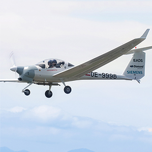 two-seater electric-gas airplane