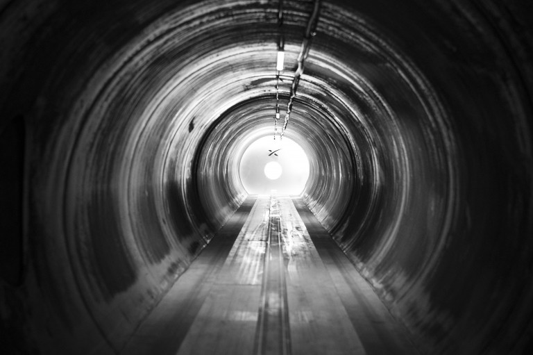 A view inside SpaceX's Hyperloop test chamber
