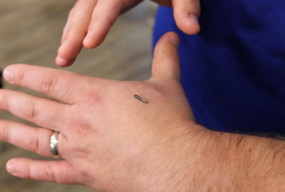 This company embeds microchips in its employees, and they