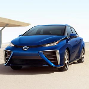 the Mirai, a hydrogen fuel cell car