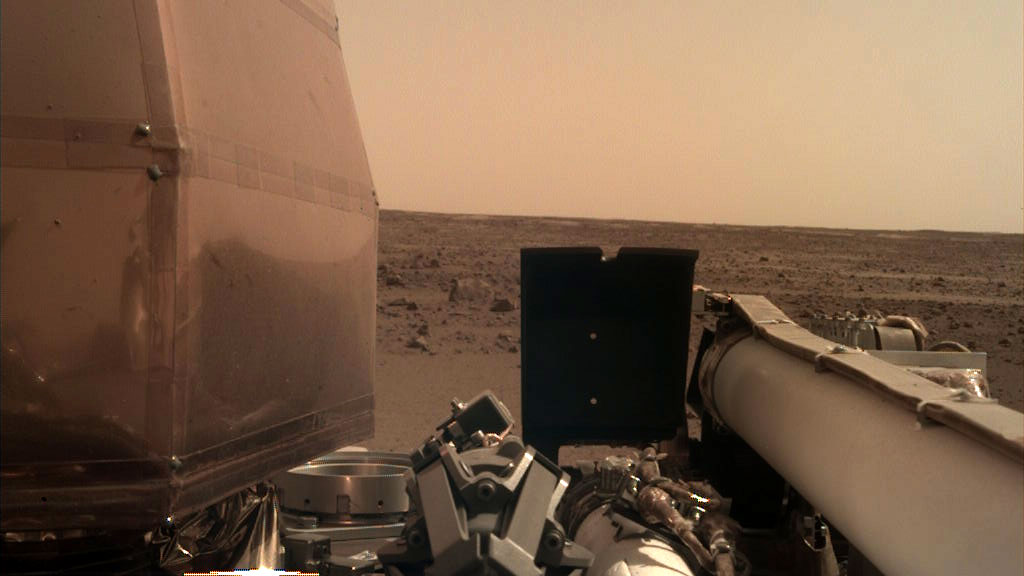 First picture taken by Insight on Mars