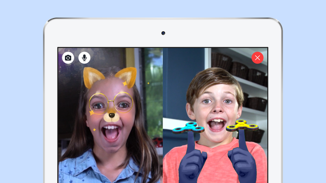Facebook's new Messenger Kids app.
