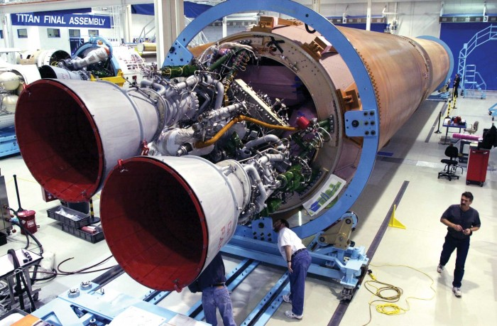 A photo of the RD-180 engine