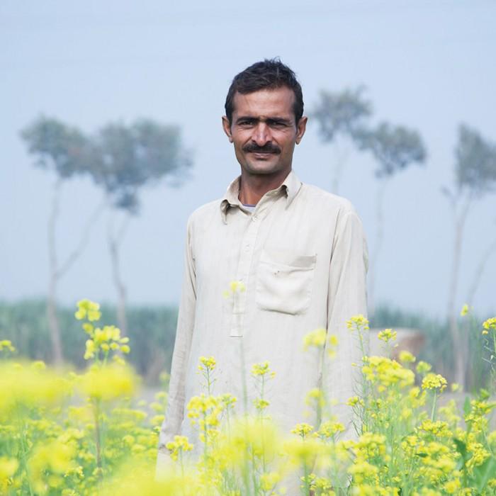A farmer in Pakistan