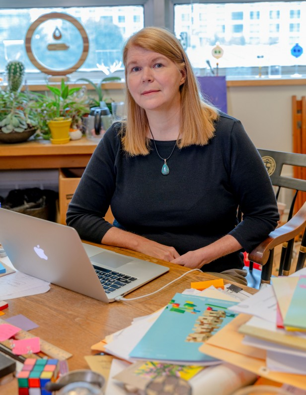 Photo of Janet COnrad in her office