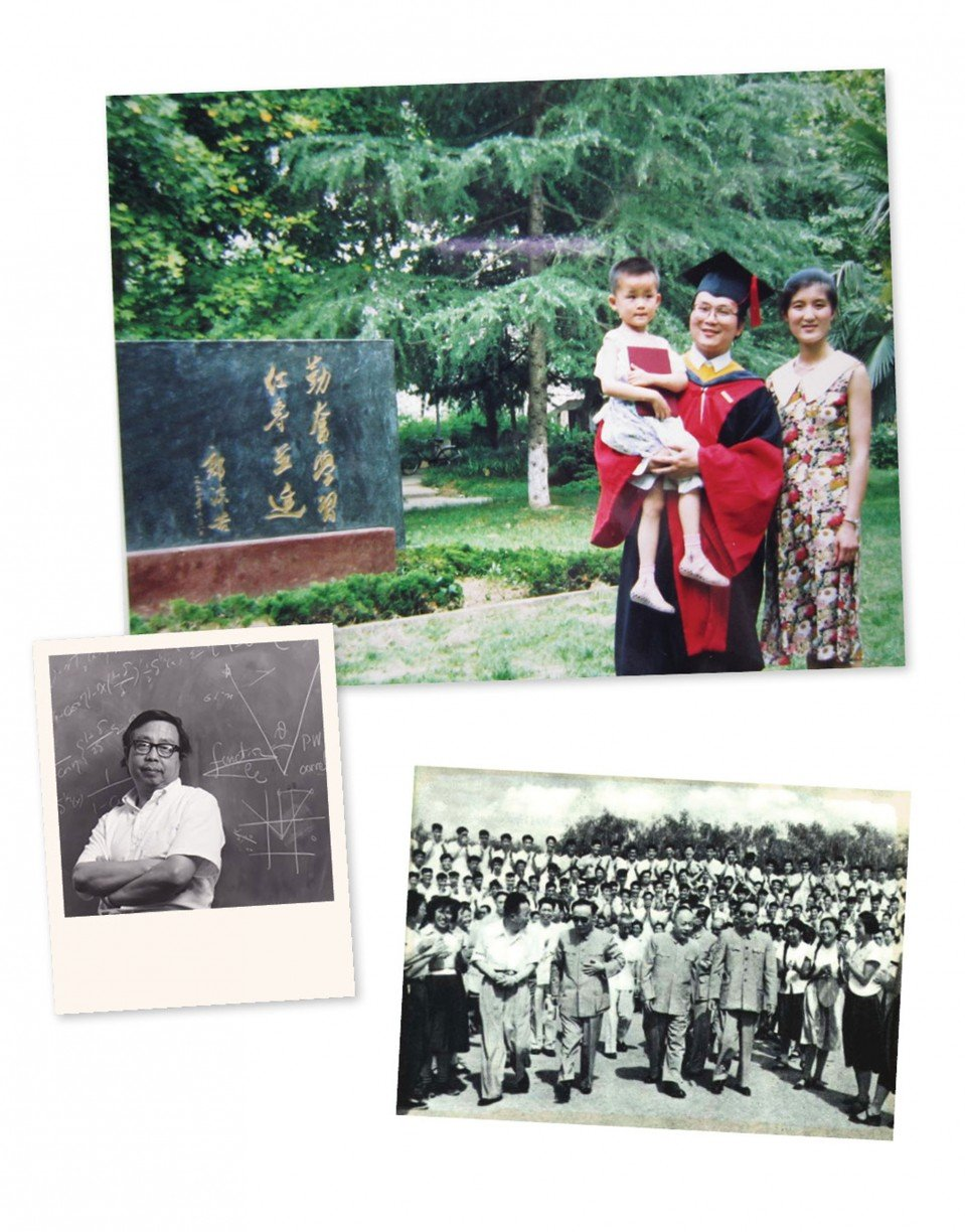 Historical photo: Fang Lizhi, one of USTC's first faculty members, was later forced into exile in the US.   Family photo: The author holds her father´s PhD diploma at his graduation ceremony.   Historical photo: 1963, USTC´s first graduation ceremony, in Beijing.