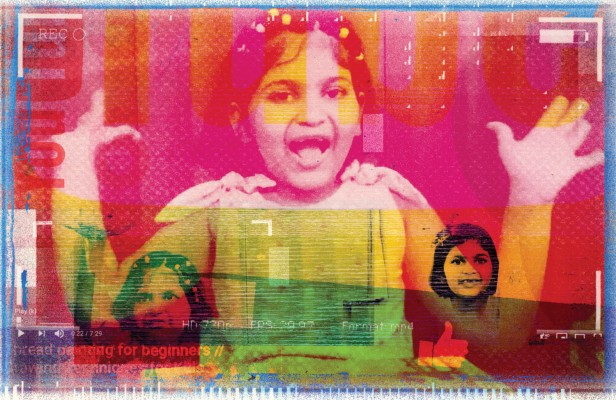 Photo collage of youtube personality Siddhika