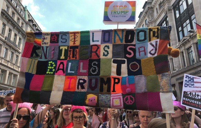 knitters march against trump