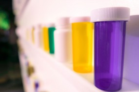 Photo of pill bottles